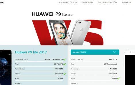 Jak nie porównywać swoich produktów na przykładzie Huawei'a P9 Lite 2017